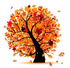 Clipart trees october.  best fall images