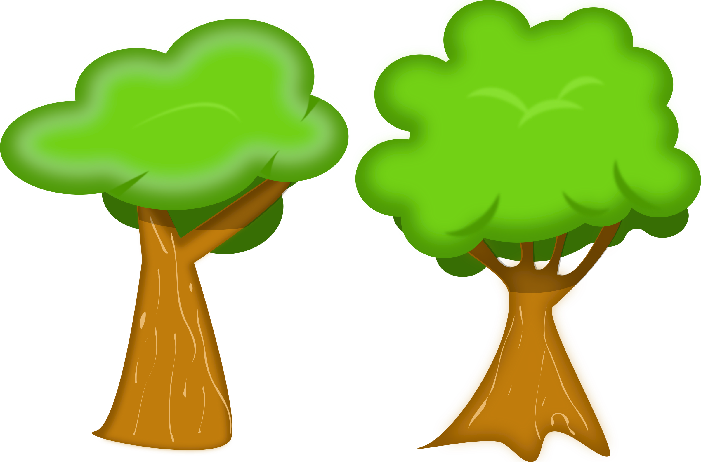 Tree clipart garden. Soft trees big image