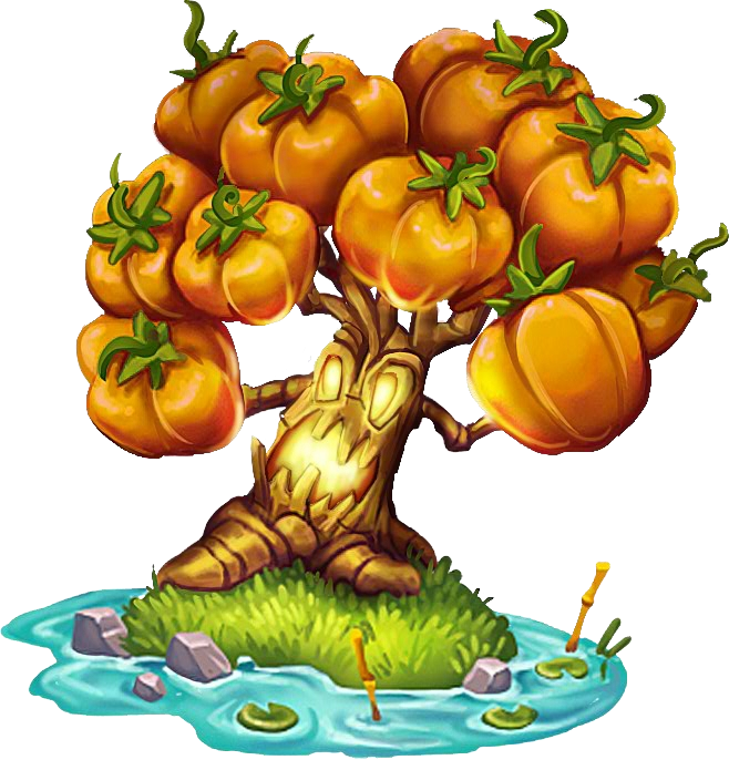 Clipart trees pumpkin. Image tree png dragon