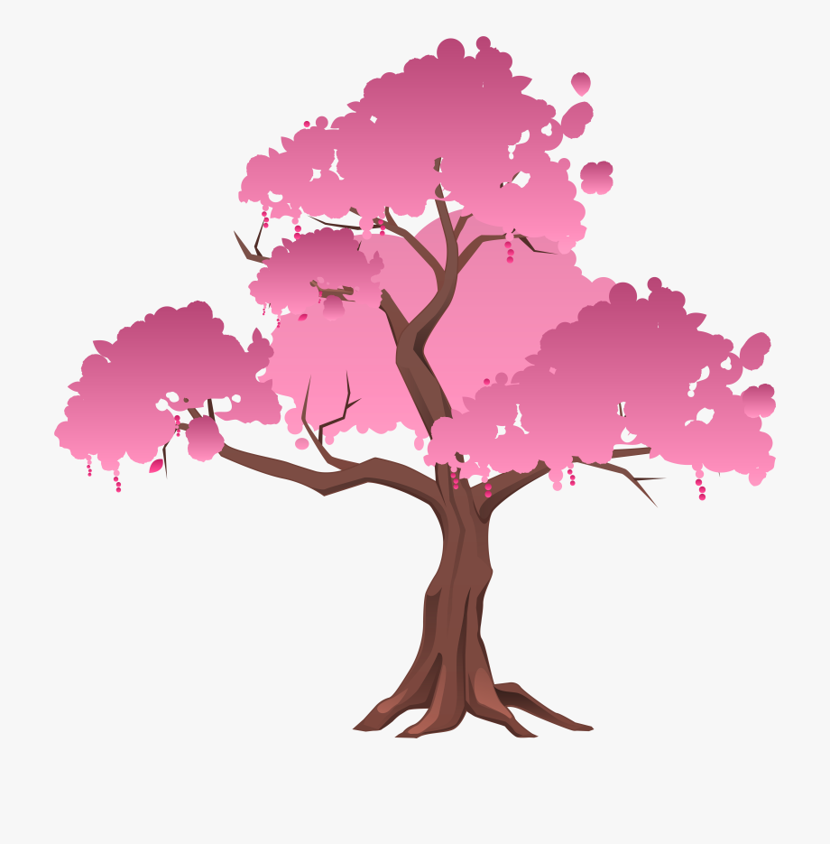 Tree clipart romantic. Trees japanese transparent