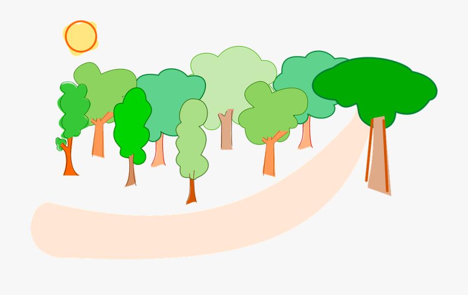Clipart trees school. Forest nature landscape environment