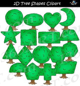 Clipart trees shape.  d tree shapes