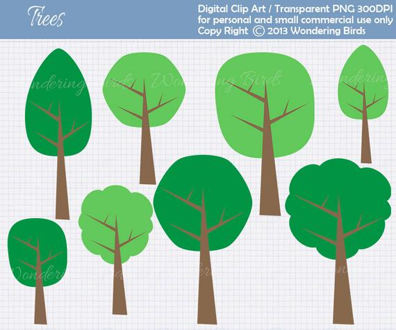 Clipart trees shape. Tree for personal and