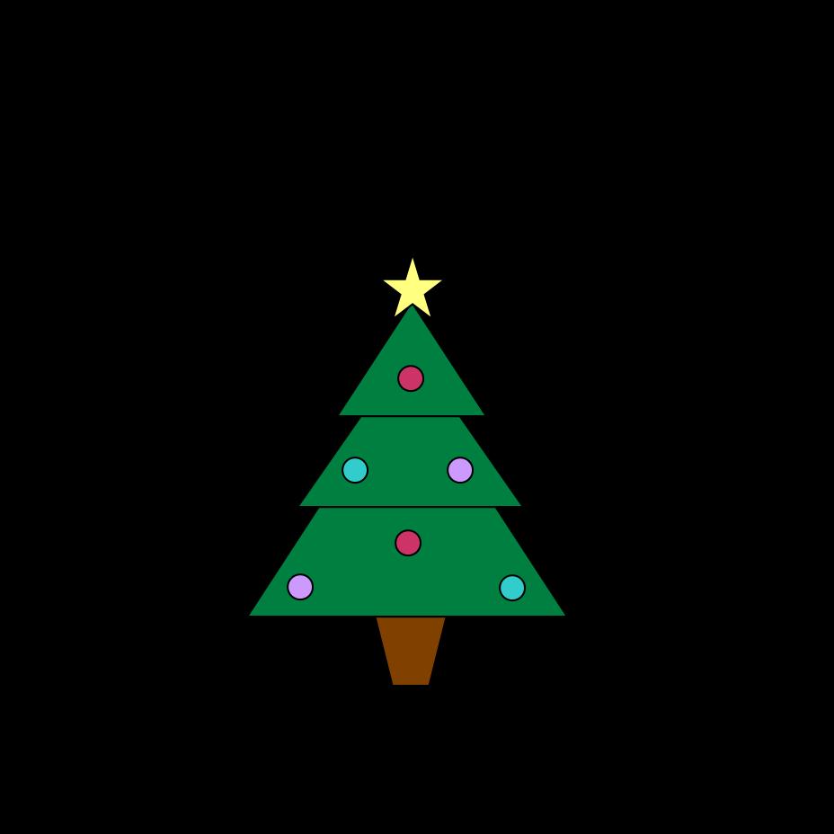 Christmas tree clip art. Clipart trees swirl