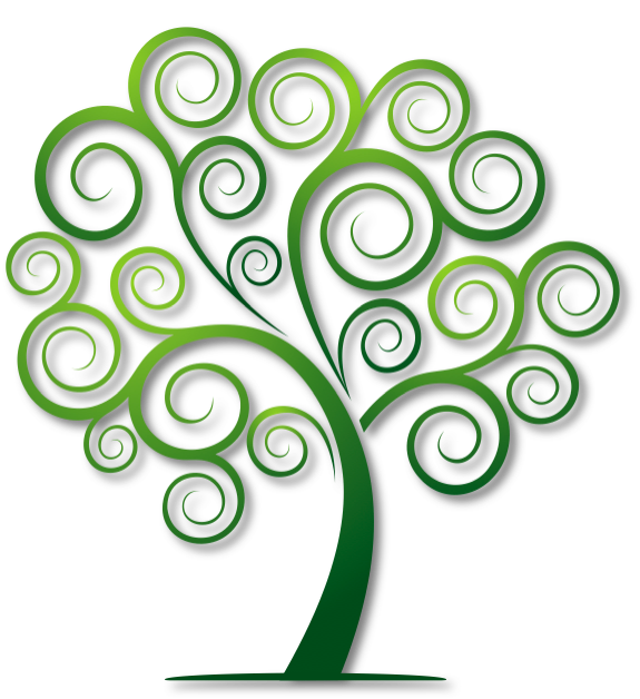 Clipart trees swirl. Logo of the site