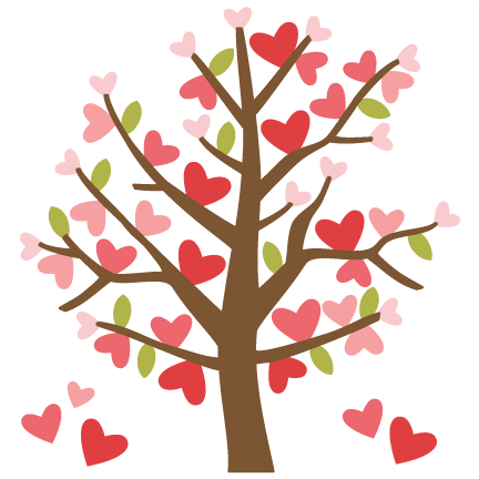 Pin on cutting files. Clipart trees valentines day