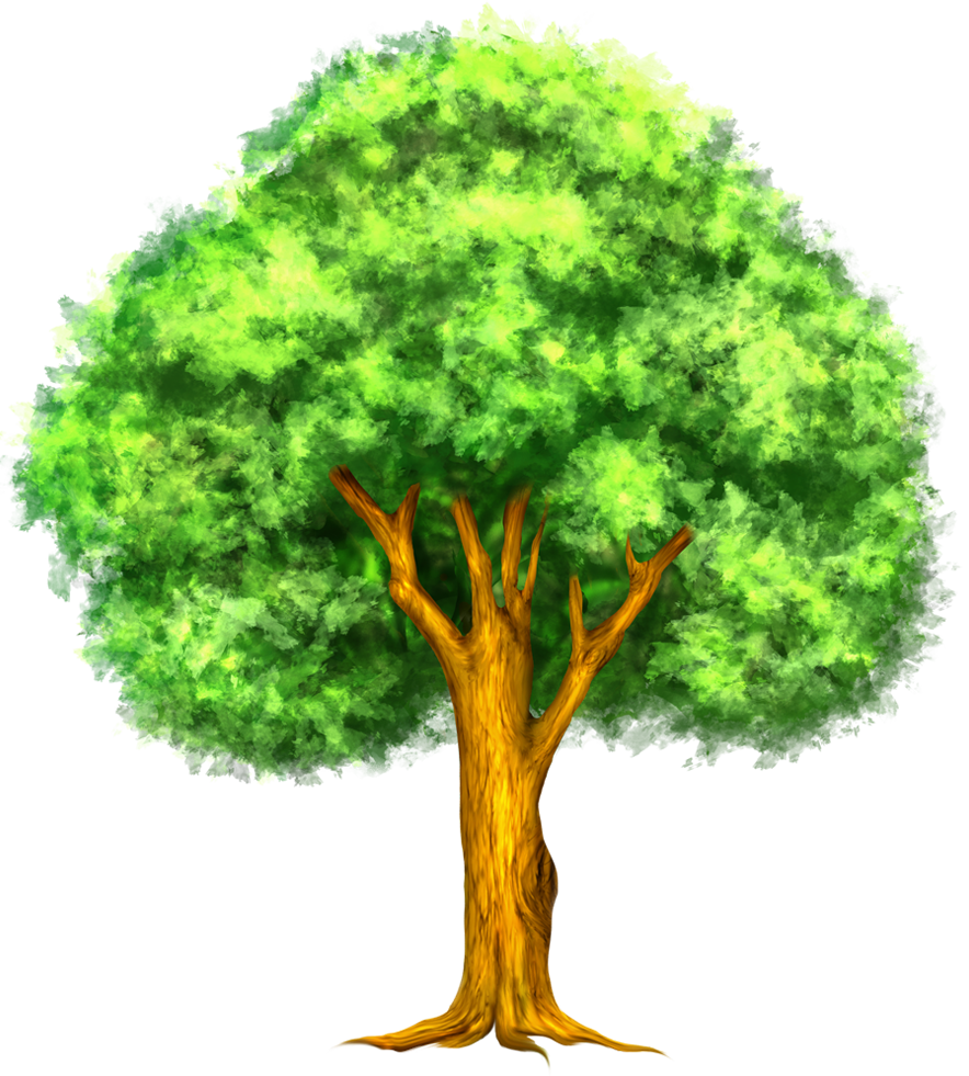 Woodland clipart leafy tree. Green painted pinterest