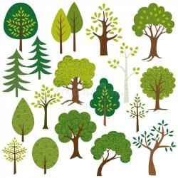Tree clipart woodland. Baby on board flower