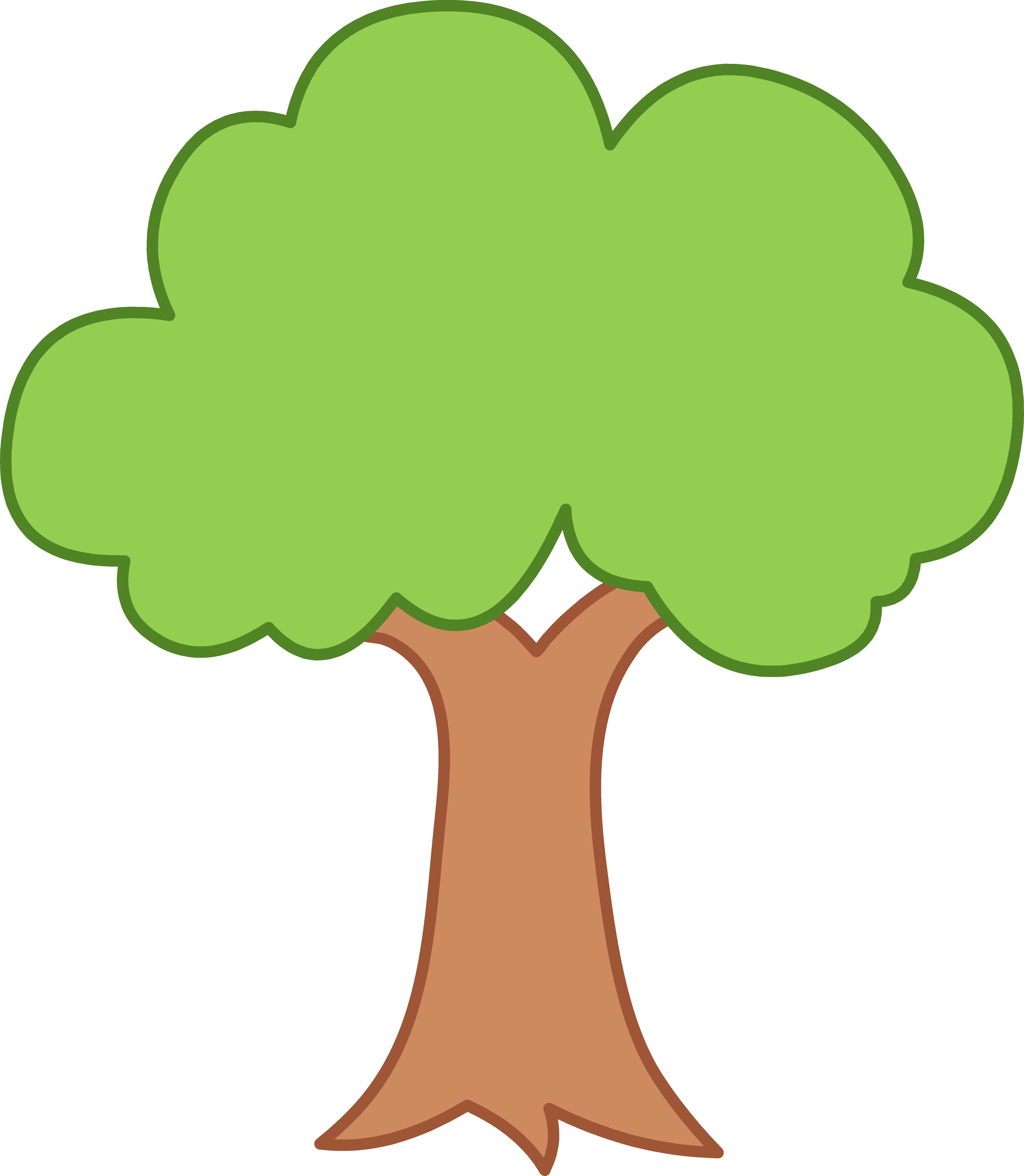 Clipart trees.  green tree panda
