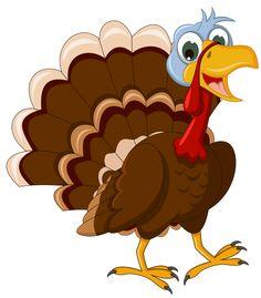 Clipart turkey. Cute cartoon of illustration