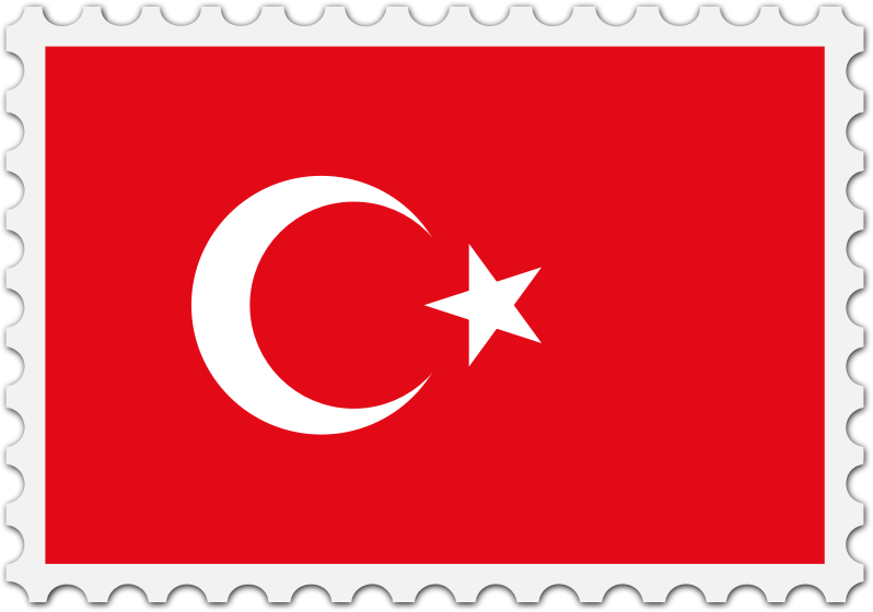 Clipart turkey banner. Flag stamp medium image