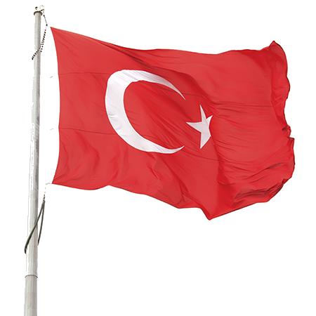 High resolution turkish flag. Clipart turkey banner