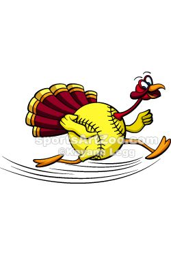 Clipart turkey baseball. Thanksgiving softball designs items