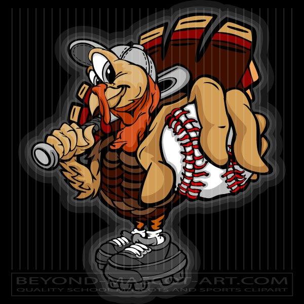 Clipart turkey baseball. Thanksgiving