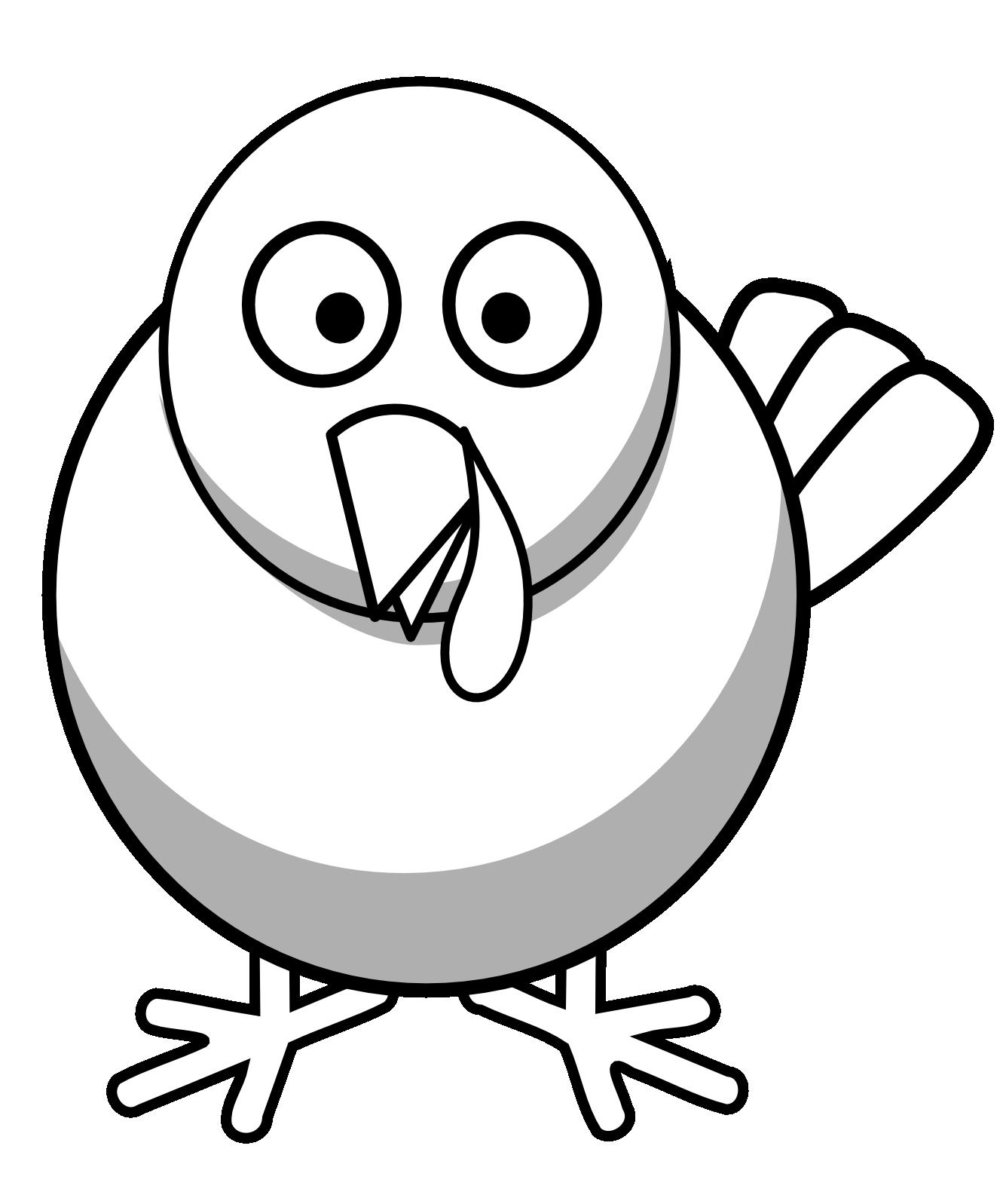 Turkey black and white. Doves clipart blue