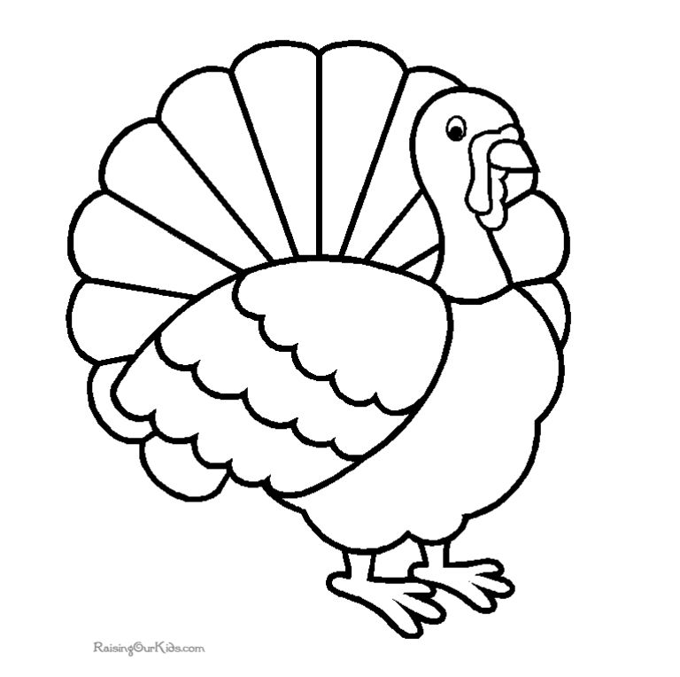 Print these free turkey. Turkeys clipart coloring page