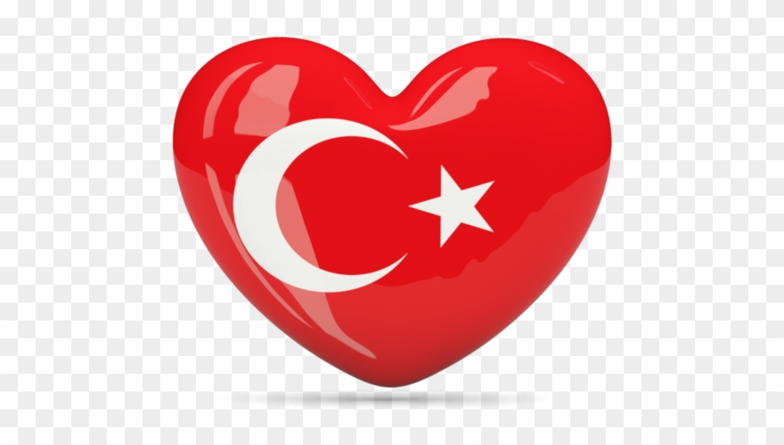Flag heart png download. Clipart turkey country