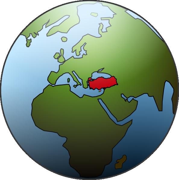 Karamelo turkey clip art. Clipart world globe africa