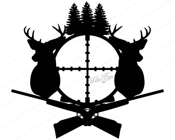 Instant download hunting silhouette. Clipart turkey deer