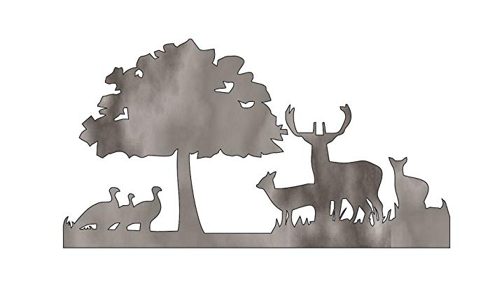 Clipart turkey deer. Amazon com and scene