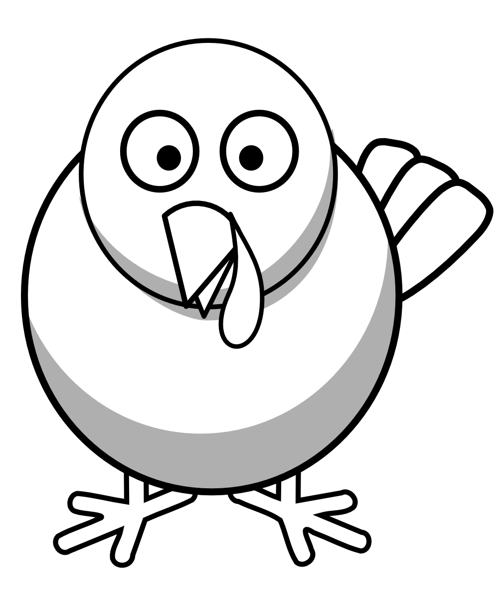 Doves clipart ibon. Turkey black and white