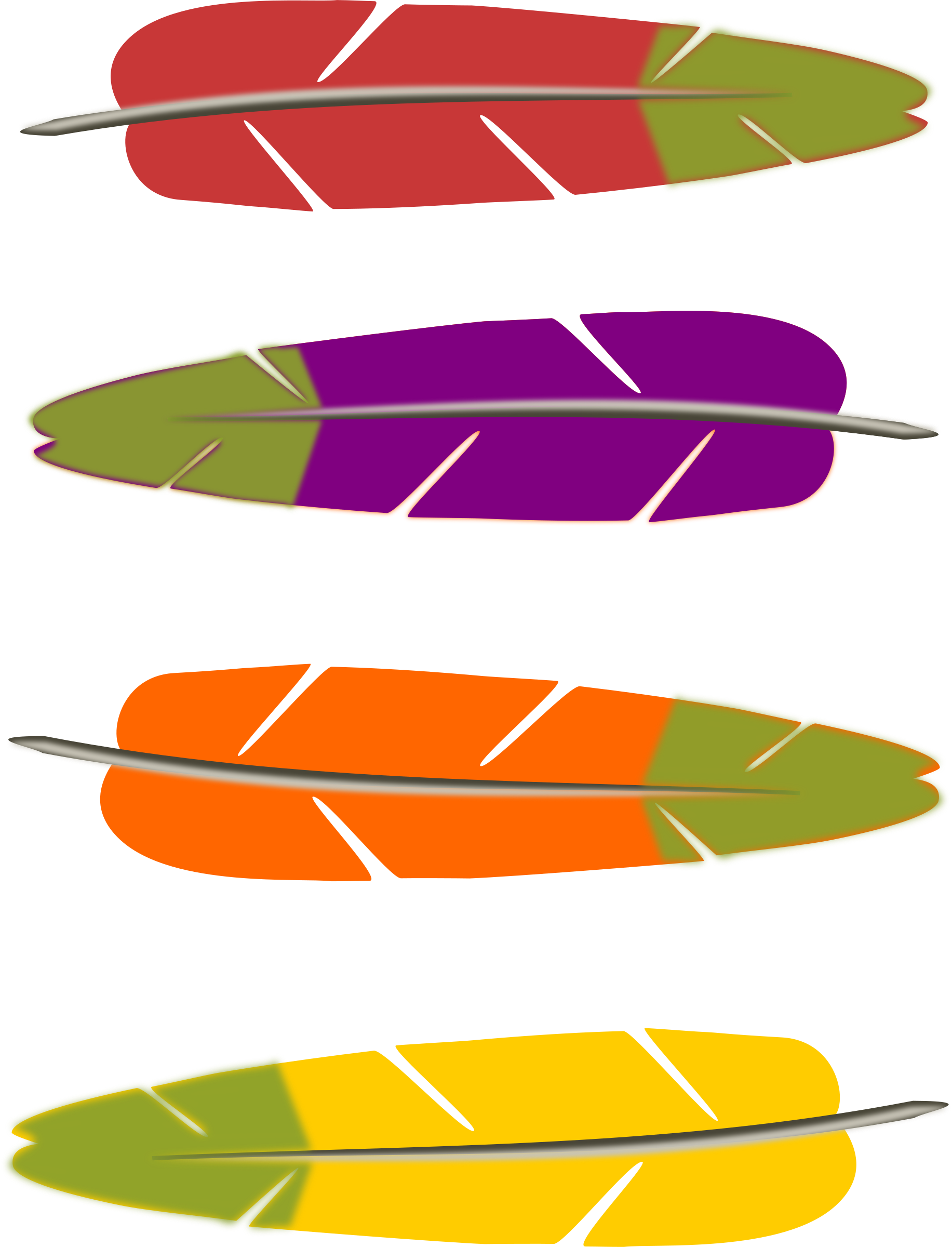 Fork clipart colored. Feathers cilpart