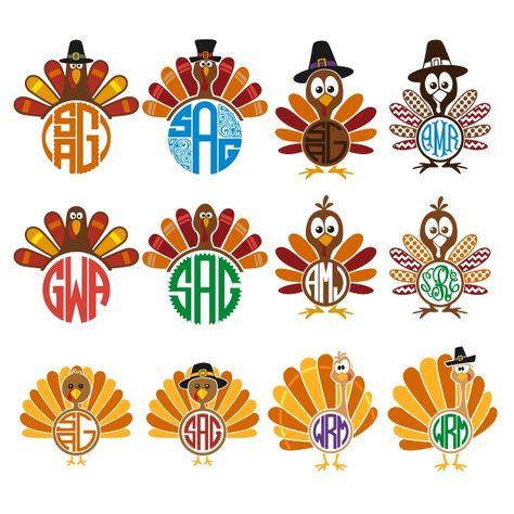 Pinterest . Clipart turkey monogram