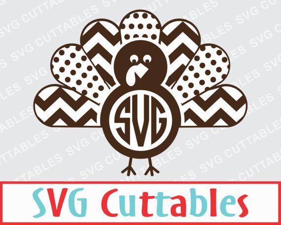 Clipart turkey monogram. Cricut frame