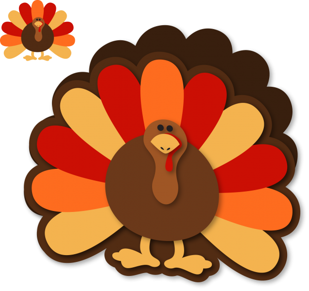 Card snapdragon snippets. Clipart turkey monogram