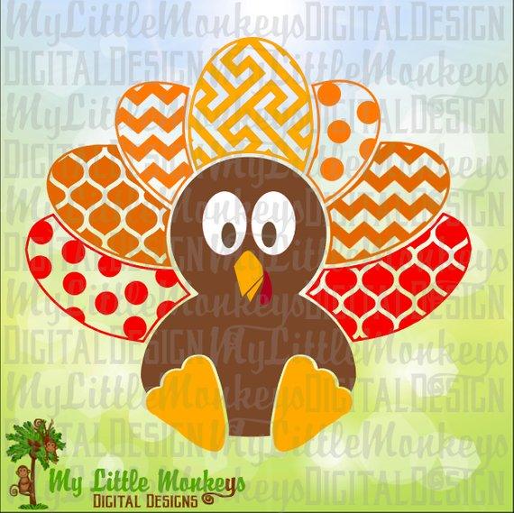 Multi baby thanksgiving design. Clipart turkey pattern