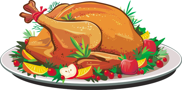 Free roasted turkey pictures. Dinner clipart holiday meal