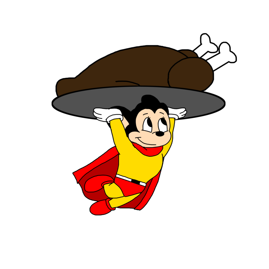 Mighty mouse carrying a. Clipart turkey roasted turkey