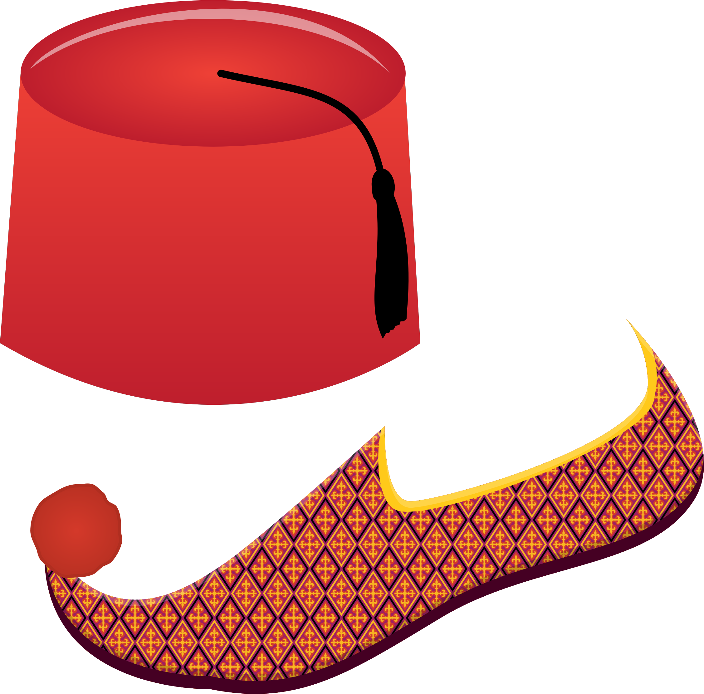 Fez and turkish big. Clipart turkey shoe