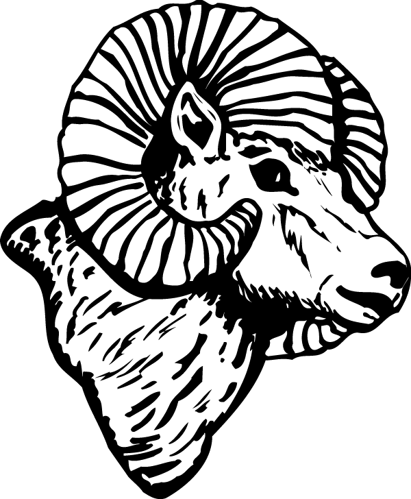 Foot clipart side view. Ram head decal