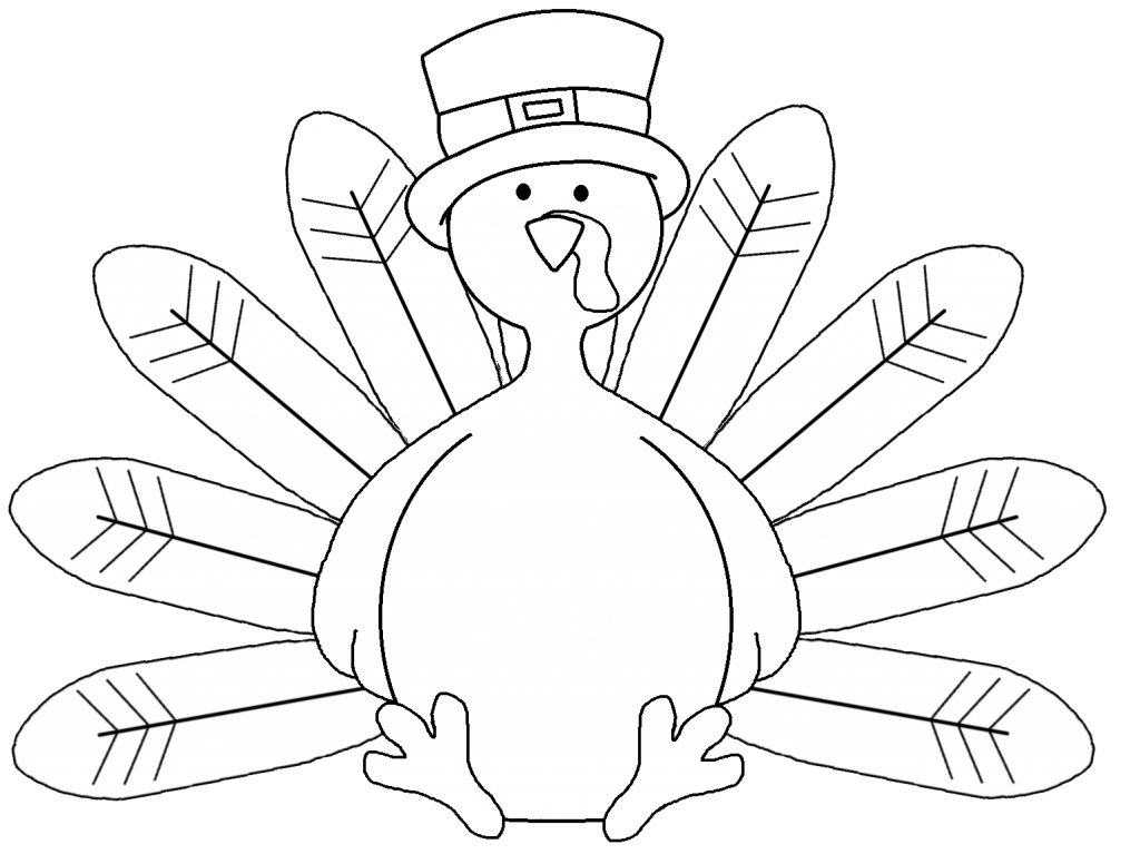 Clipart turkey template. Outline drawing at getdrawings