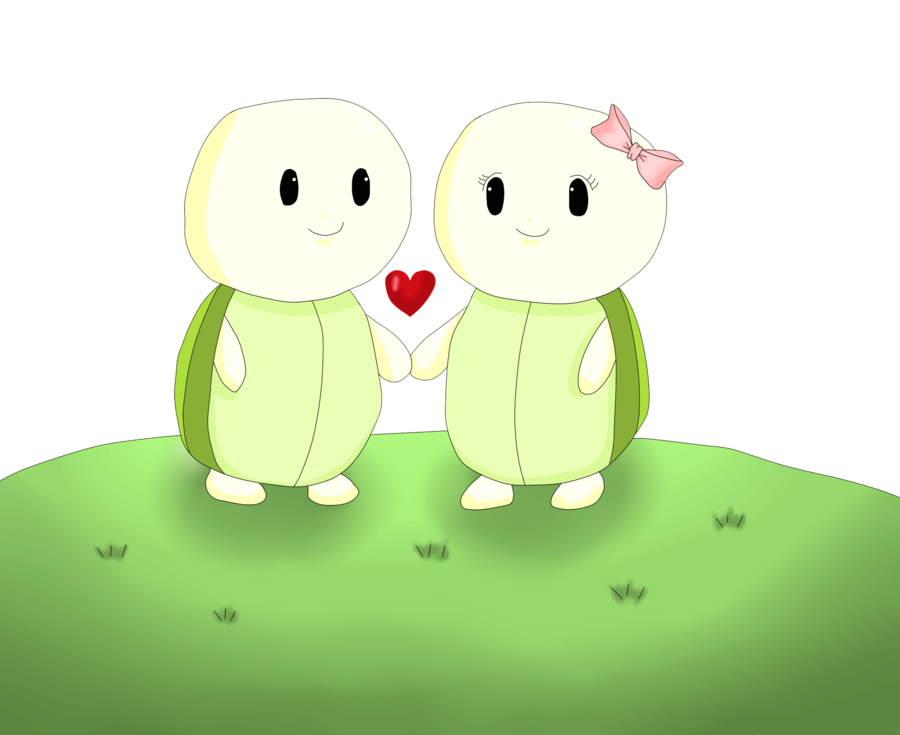 Cute love x by. Clipart turtle animation