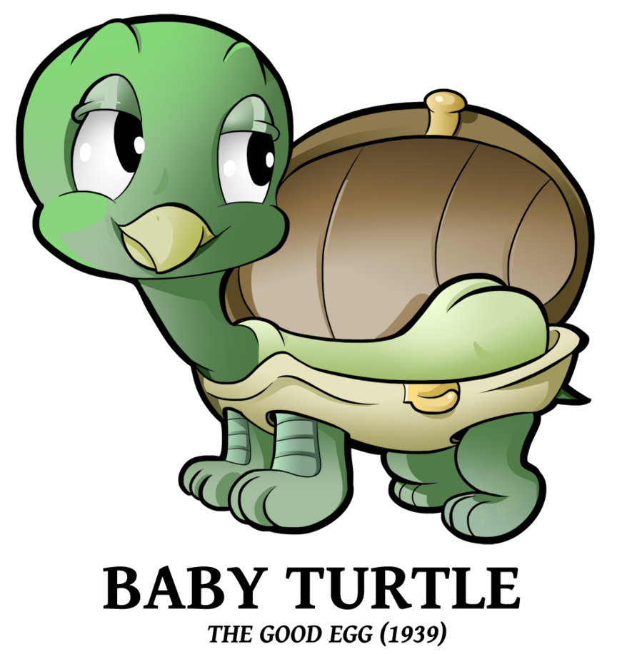 Clipart turtle baby turtle.  by boscoloandrea on