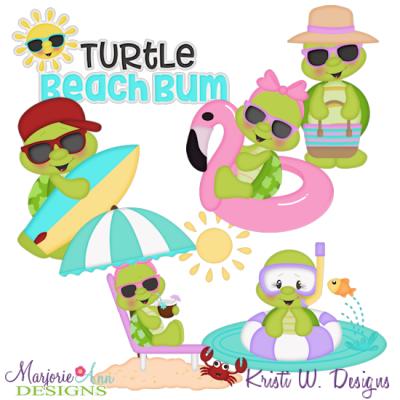 Clipart turtle beach. Bum svg cutting files