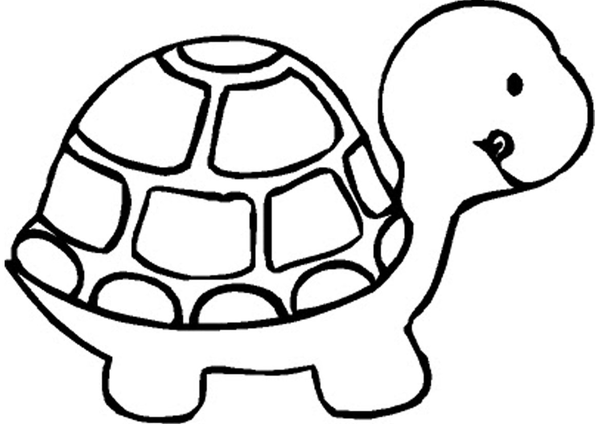 Clipart turtle coloring. Free printable pages for