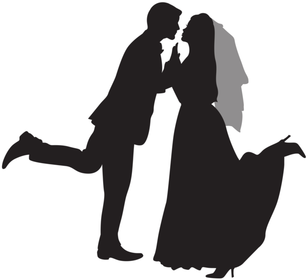Clipart wedding cheer. Silhouette couple png clip