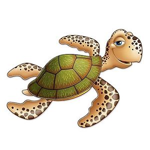 Details about jointed sea. Clipart turtle decoration