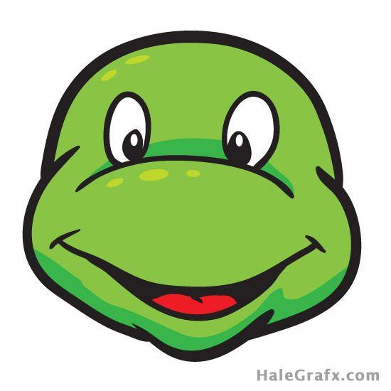 Ptm ninja free tmnt. Clipart turtle face
