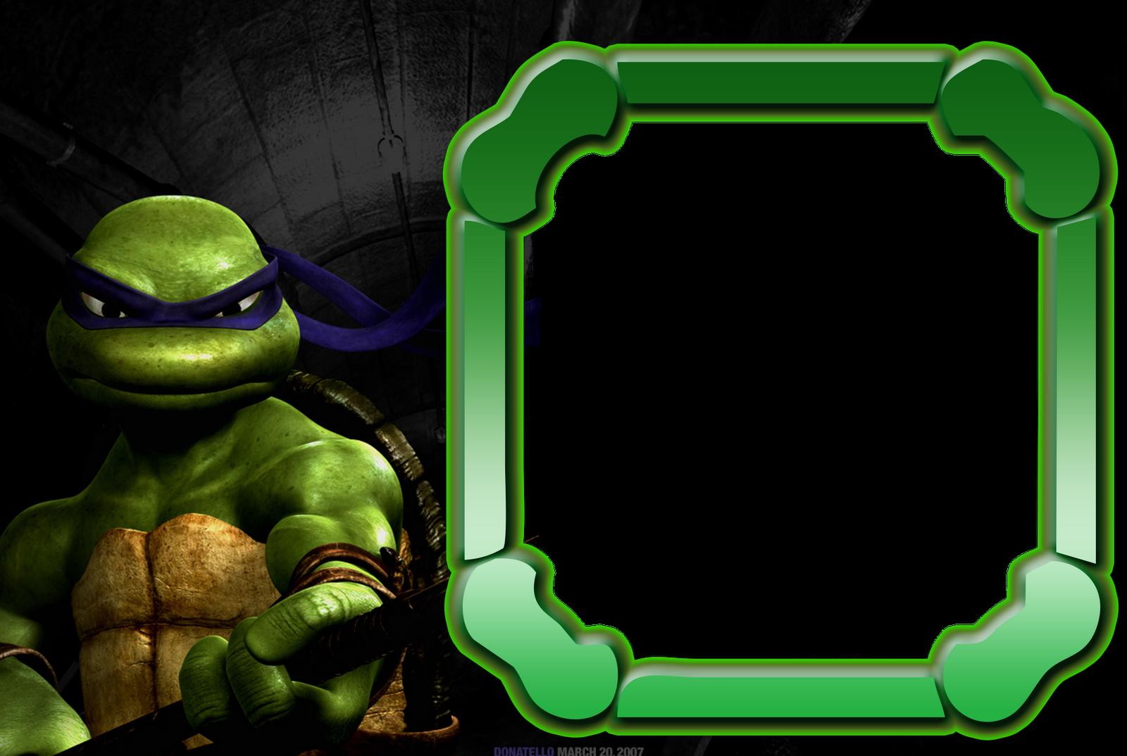 Ninja turtles kids transparent. Clipart turtle frame