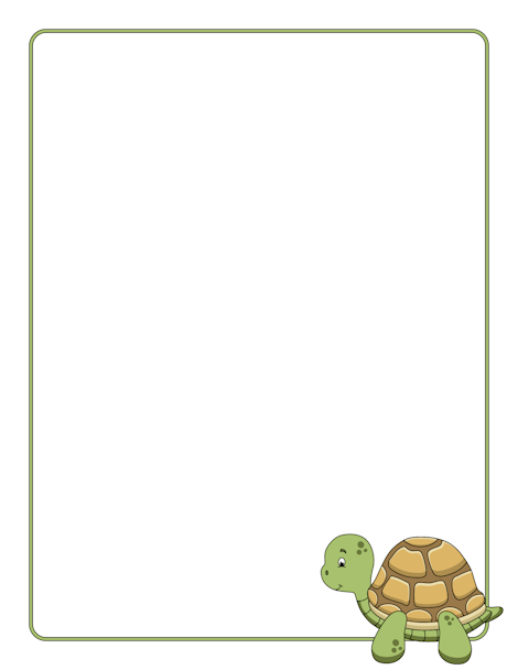 Pin by muse printables. Clipart turtle frame