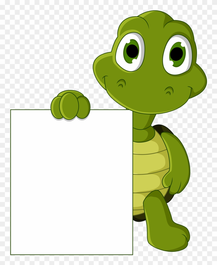 Clipart turtle frame. Border animals name tag