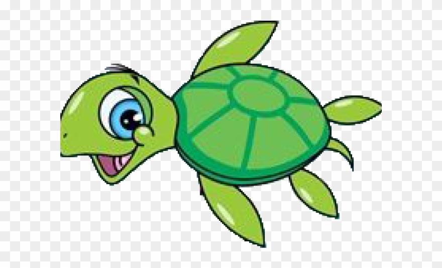 Swimming sea painting cartoon. Clipart turtle friend