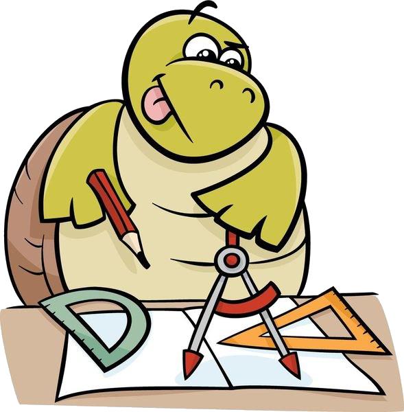 Cartoon geometry royalty free. Clipart turtle geometric