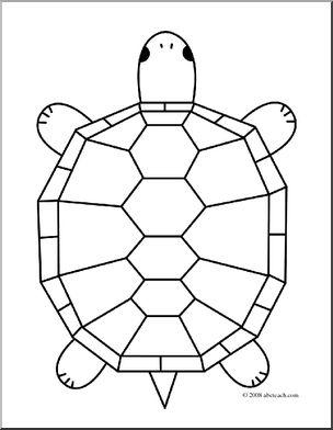 Clipart turtle geometric. Clip art cartoon coloring