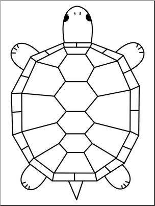 Clip art cartoon b. Clipart turtle geometric