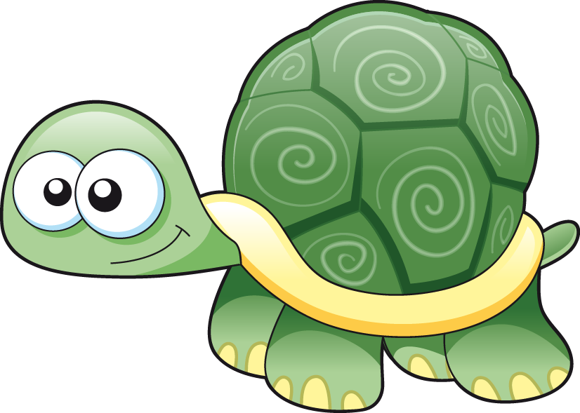 Cartoon drawing hand painted. Clipart turtle geometric